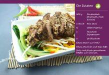 Steak auf Asia-Salat