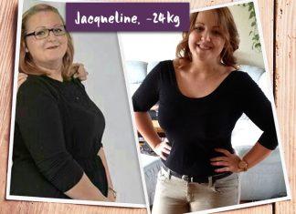 Jacqueline im Vorher-Nachher-Vergleich