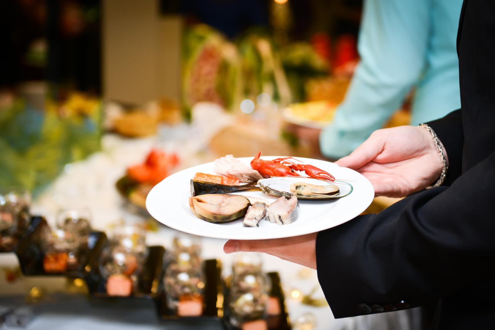 Abnehmen am Buffet, leckere Fisch-Variation