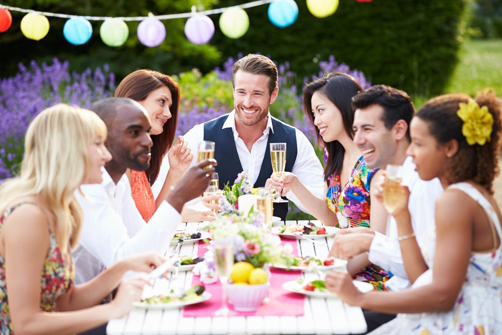 BBQ-Dinner mit Freunden verzichten