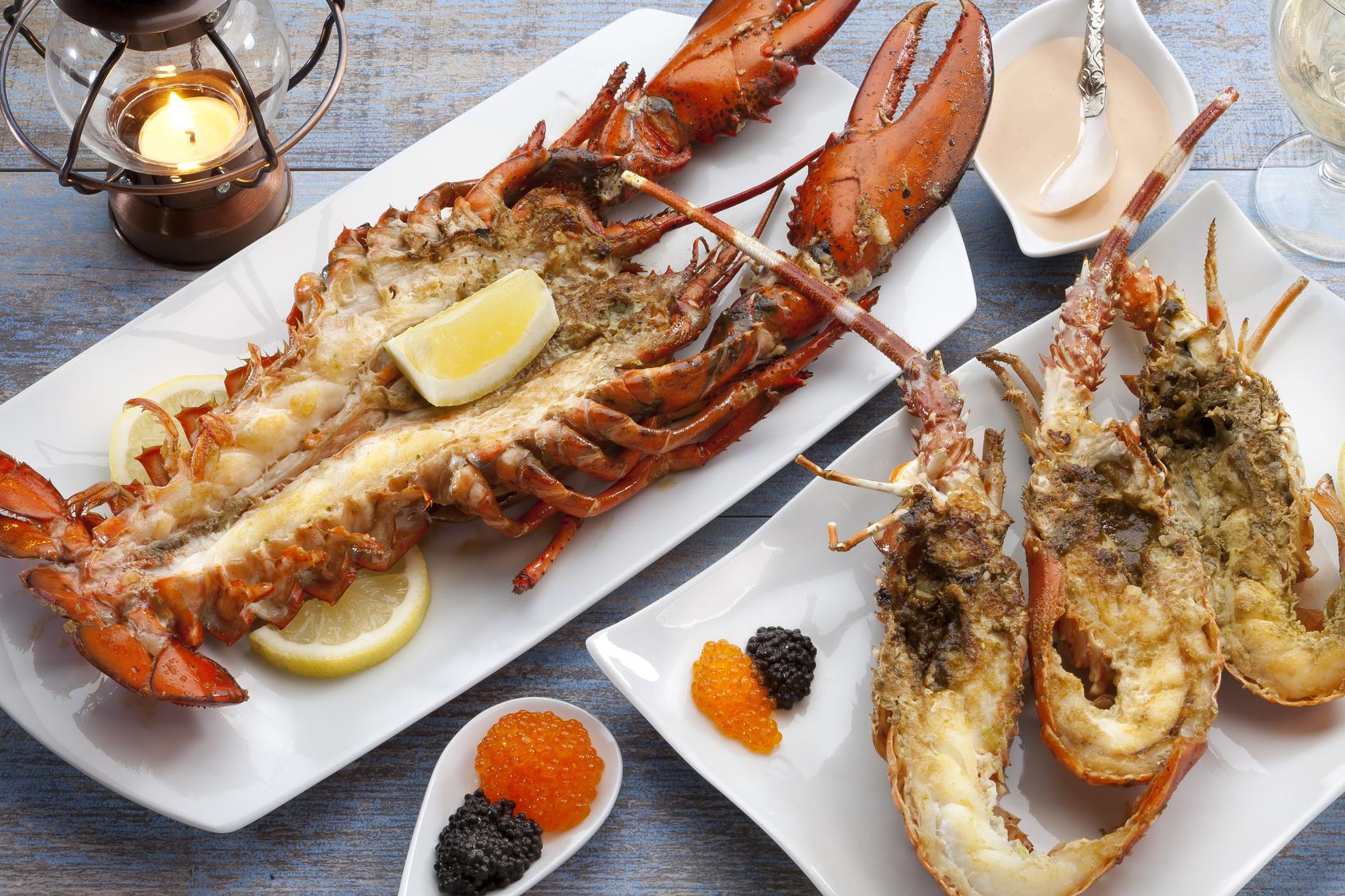 gegrillte Meeresfrüchte sind gut für die Figur