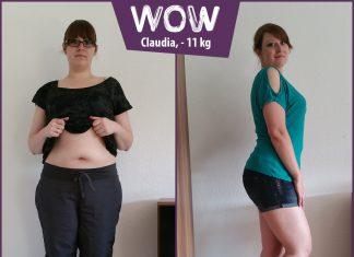 Claudia zeigt ihren Bauch bevor sie mit BodyChange abgenommen hat