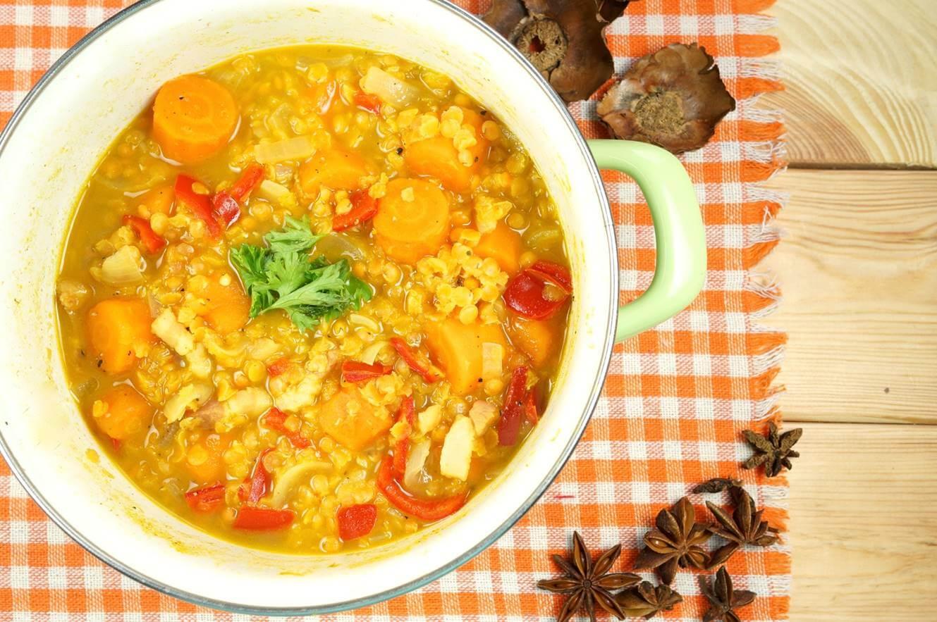 BodyChange Abnehmrezept Herbst Rote Linsen Suppe