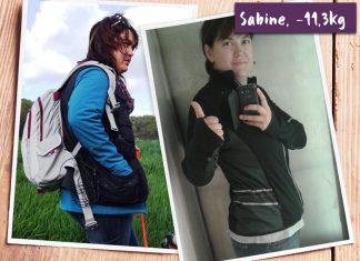 Sabine im vorher-nachher-Vergleich