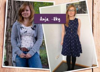 Anja posiert in ihrem neuen Kleid