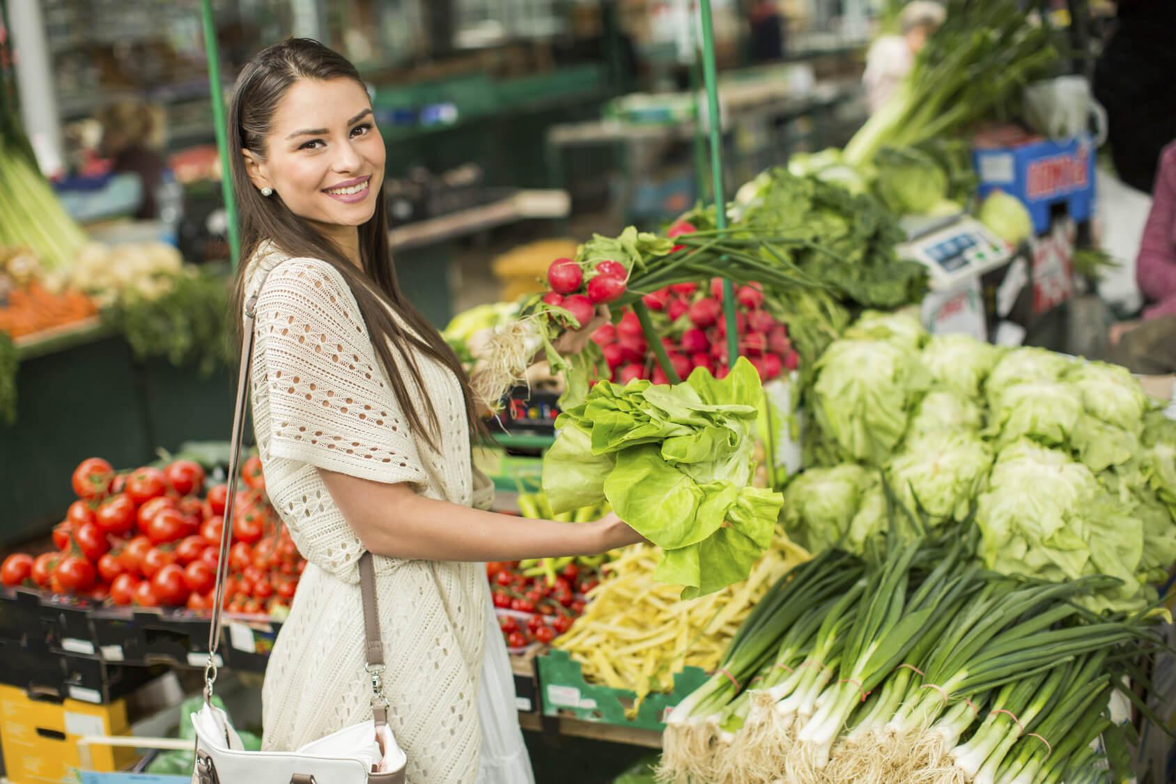 Grünes Gemüse mit reichlich Calcium