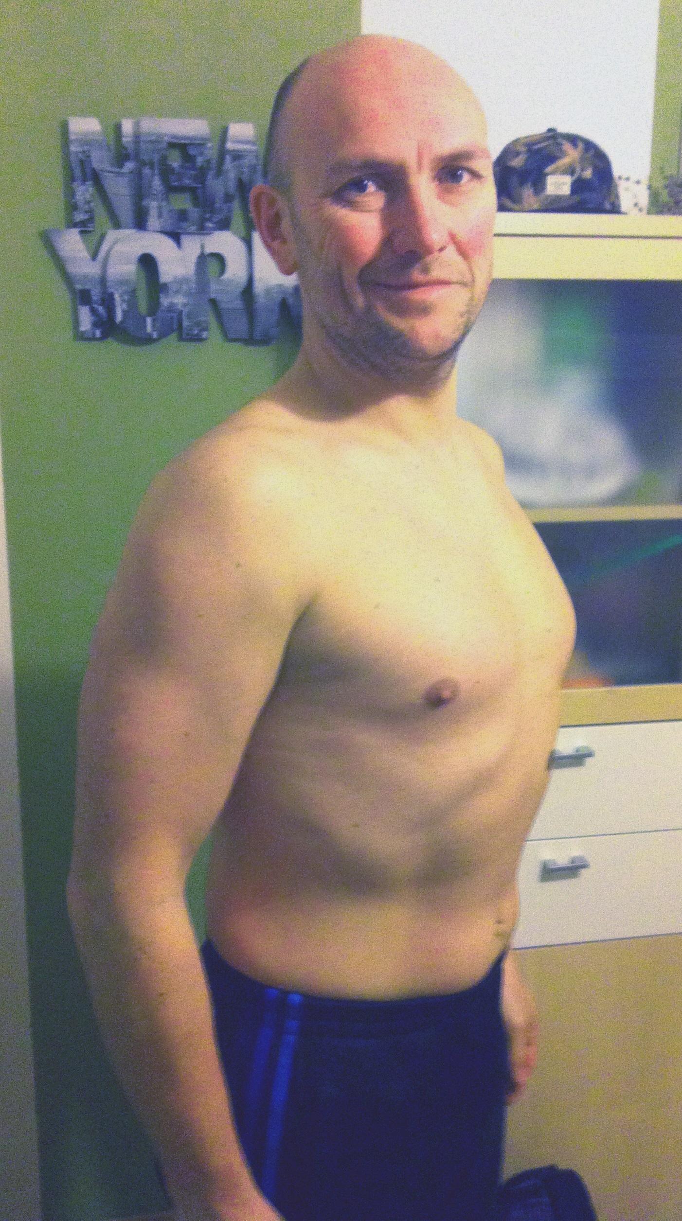 Manfred ist mit seiner Figur dank BodyChange zufrieden