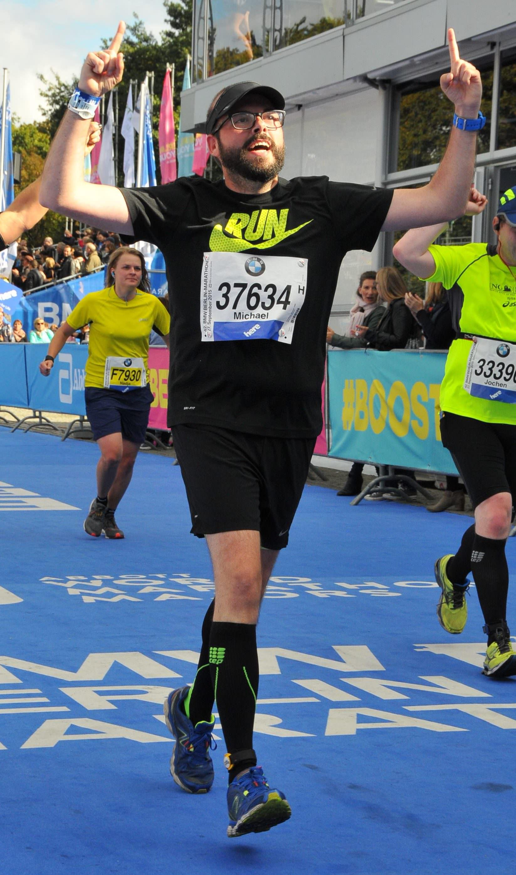 Michael läuft dank BodyChange den Berliner Marathon