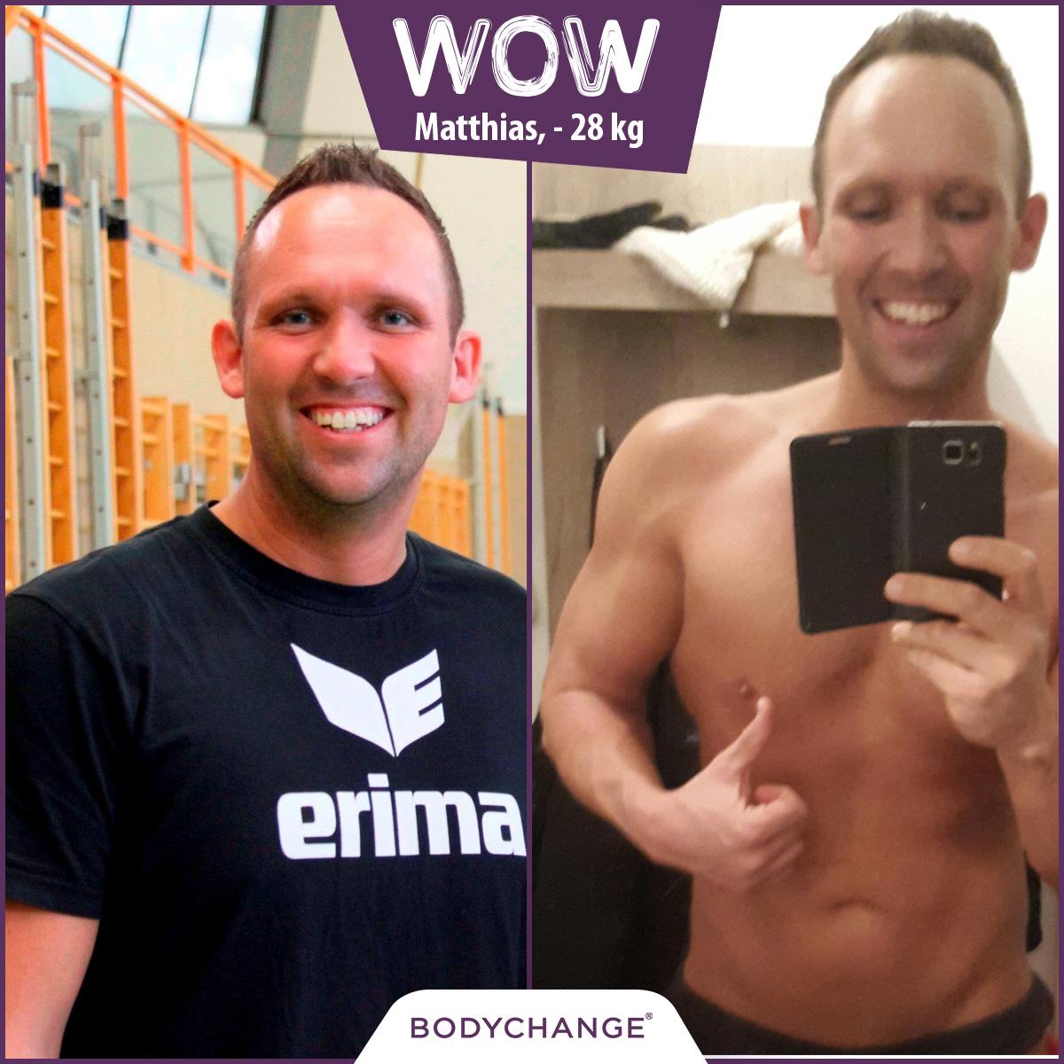 Matthias hat mit BodyChange 28 kg abgenommen