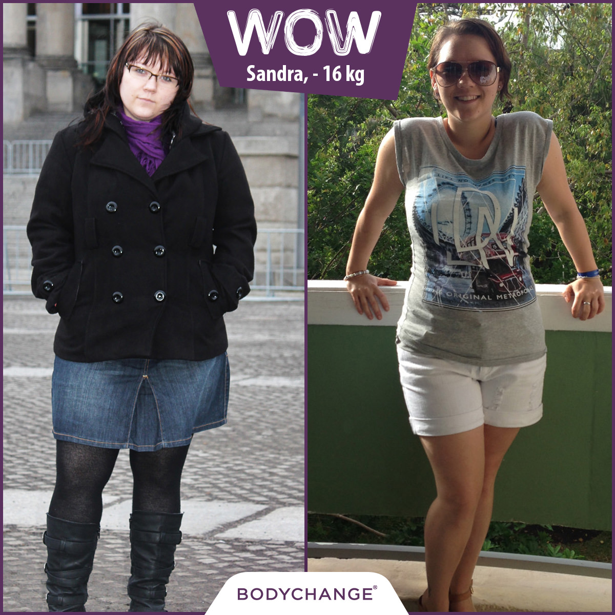 Sandra hat mit BodyChange 16 kg abgenommen