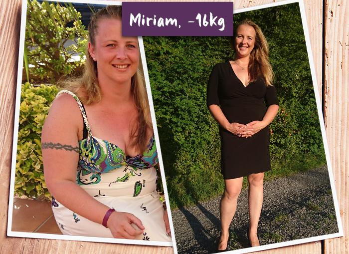 Miriam im Vorher-Nachher-Vergleich