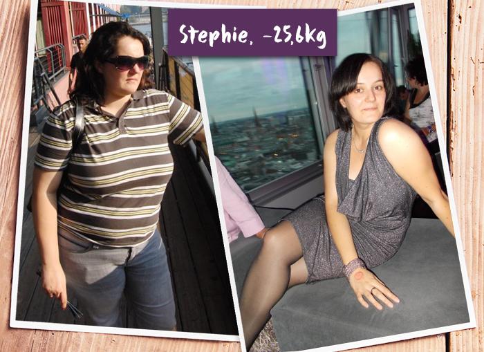 Stephie im Vorher-Nachher-Vergleich