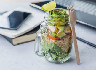 gesundes essen im buero