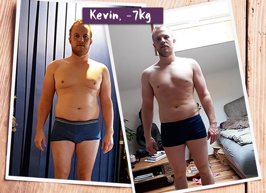 Kevin im vorher-nachher-Vergleich