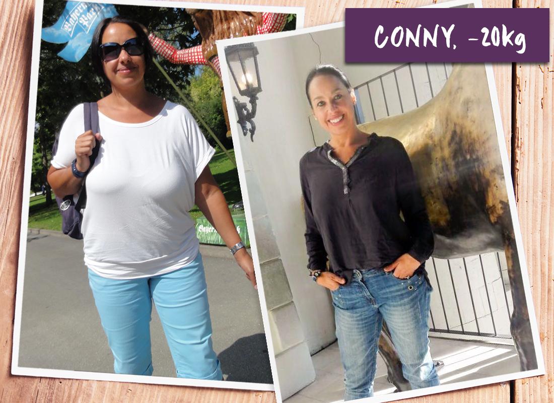 Conny im vorher-nachher-Verglich
