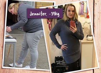Jennifer fühlt sich wohler als je zuvor nach ihrem Erfolg mit BodyChange