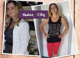 Nadine im Vorher-Nachher-Vergleich
