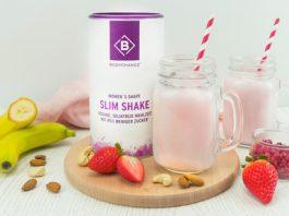 Slim Shake mit Banane und Beeren