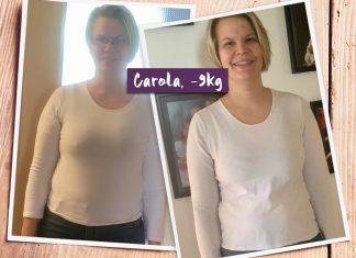 Carola im vorher-nachher-Vergleich