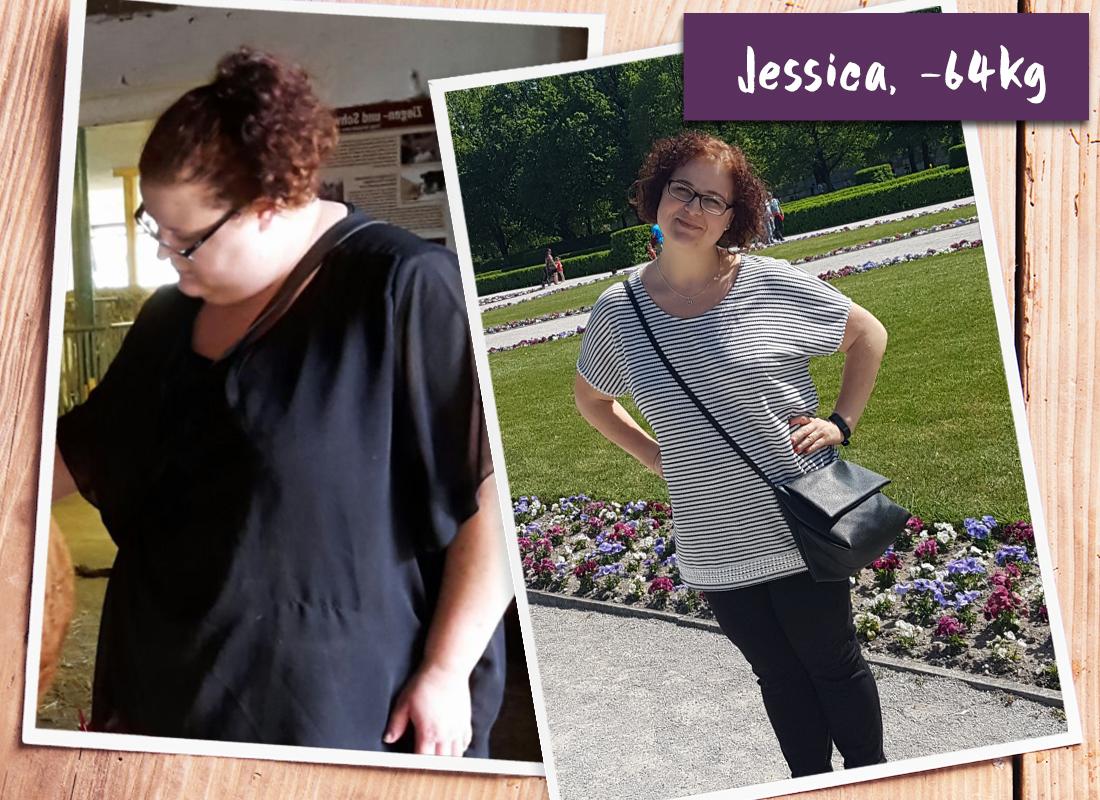 Jessica im vorher-nachher Vergleich