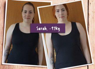 Sarah im Vorher-Nachher-Vergleich